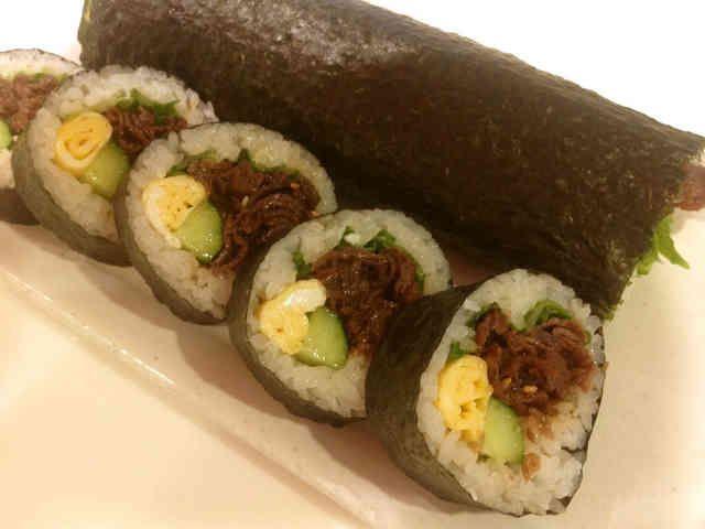 話題入りの甘辛しぐれ煮で☆牛肉太巻き寿司の画像