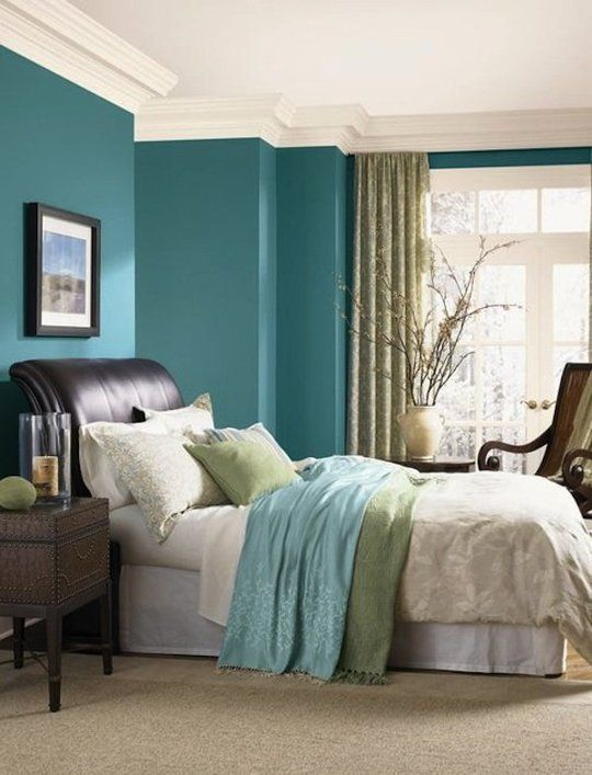 The Best Olympic Paint Colors: 10 Moody Blues: Wake up every day in a beachy mood, surrounded by Acapulco Cliffs. A jewel-toned turquoise, this statement color is simultaneously vibrant and soothing.