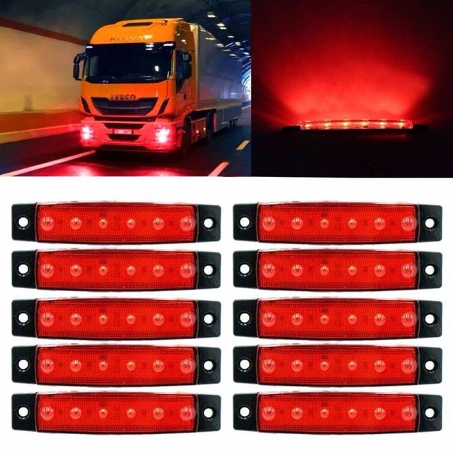 1x Waterproof Side Marker Indicator Light Lamp For Car Truck Trailer Lorry LED