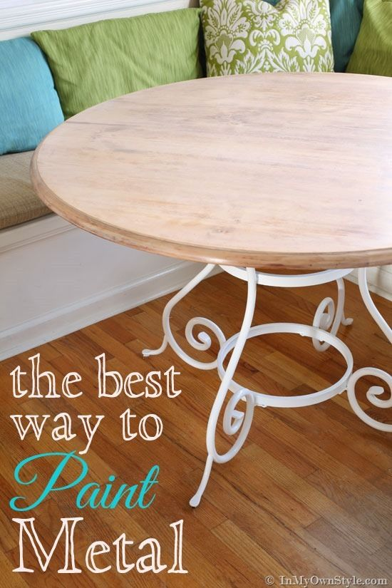 How to paint metal furniture in a smooth and durable finish.