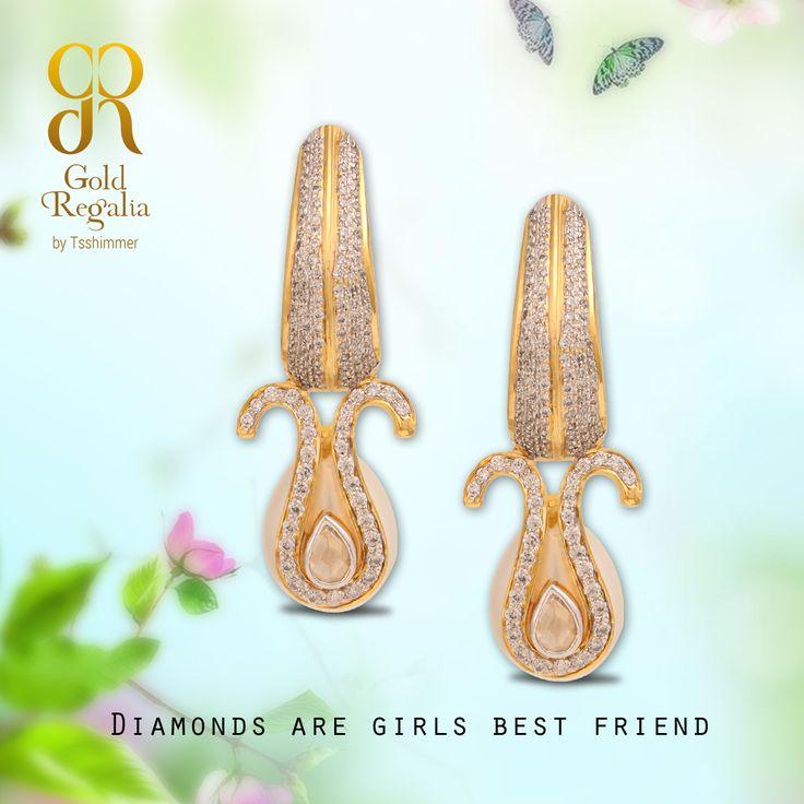 #Diamonds are girls best friend!  #WomensJewelry #ClassyJewelry #DiamondJewelry #DiamondEarring #EarringsOnline