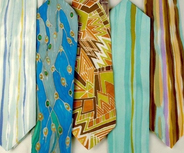 Cravatta dipinta fai da te