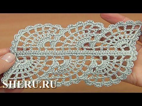Ленточное кружево крючком + разбор схемы вязания - YouTube