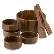 Acacia 7-Piece Salad Bowl Set - Bed Bath & Beyond - Love this!!
