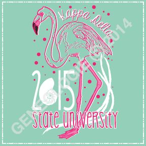 Geneologie | Greek Tee Shirts | Greek Tanks | Custom Apparel Design | Custom Greek Apparel | Sorority Tee Shirts | Sorority Tanks | Sorority Shirt Designs  | Sorority Shirt Ideas | Greek Life | Hand Drawn | Sorority | Sisterhood | Bid Day | Recruitment | Flamingo | KD | Nautilus Shell | KappaDelta