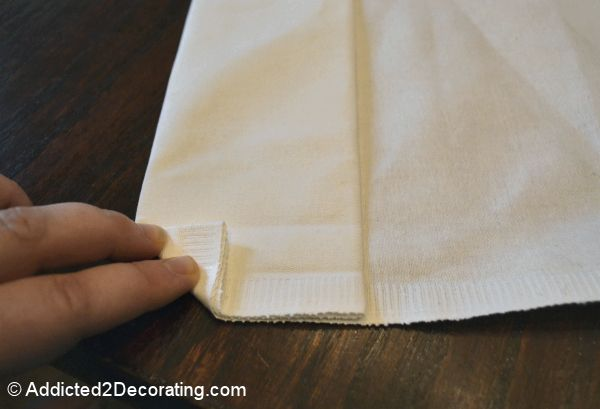 how to make good corners on homemade curtains