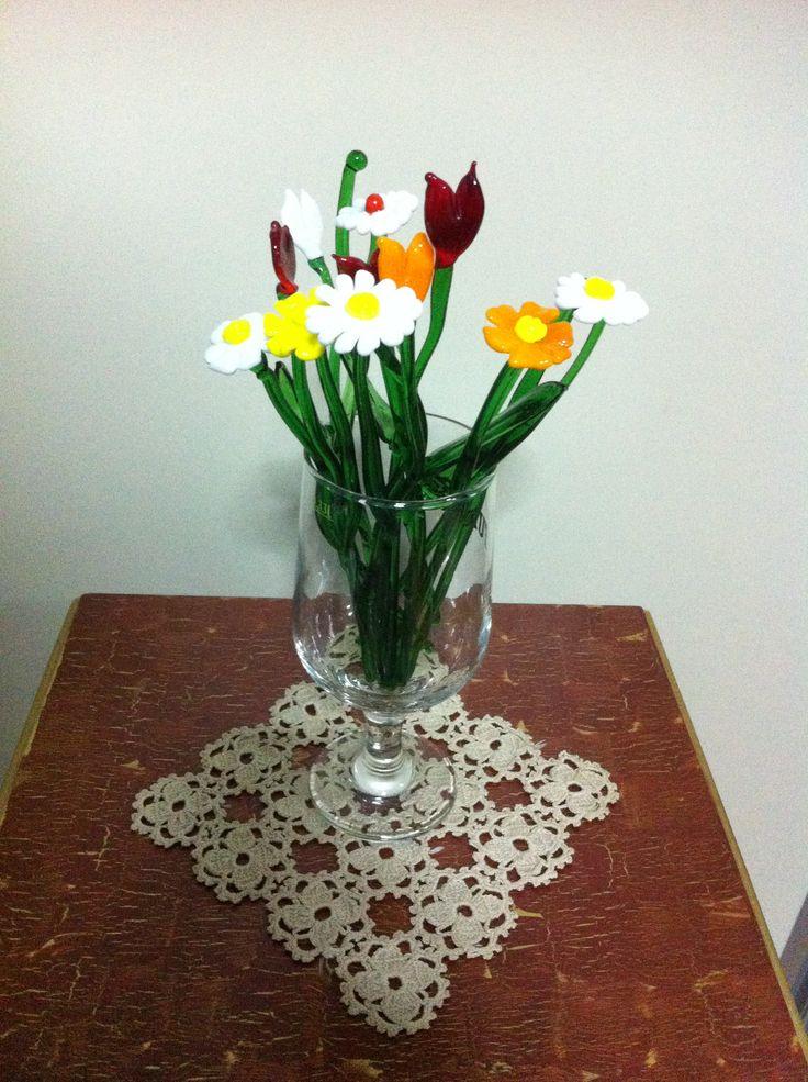 Cam çiçeklerim.