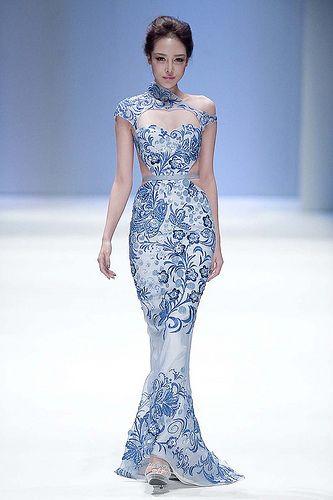 Qipao style flowy dress