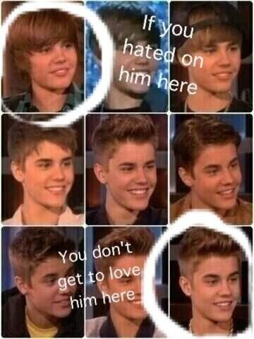 these are fans....I'm a true belieber and I've been In love with him ever since my aunt showed me a video of him in 2007 before he was who he is now. I fell in love with kidrauhl...and justin bieber