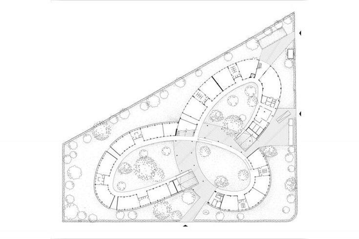 一樓平面圖;圖片提供/Vo Trong Nghia Architects