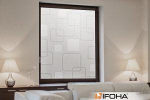 Sichtschutz mit Motiv für Glasscheiben