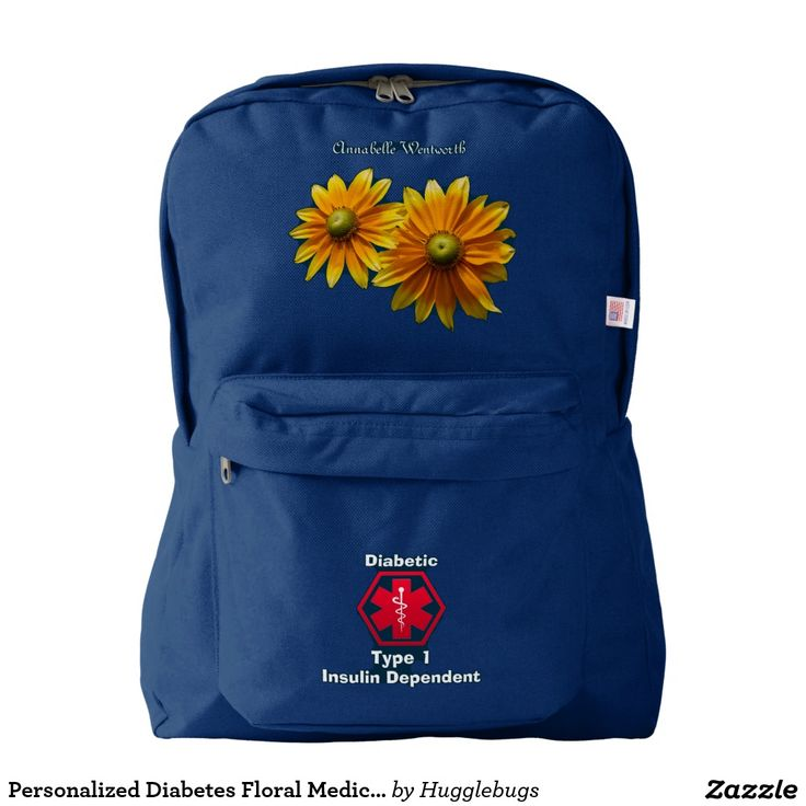 Personalized Diabetes Floral Medical Alert