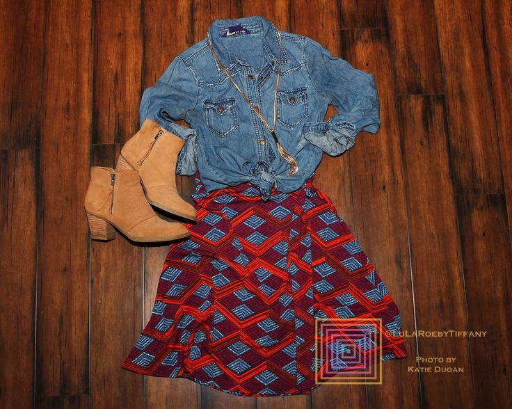 Azure Skirt  https://www.facebook.com/groups/KimandJanelleLuLaRoe/
