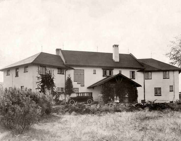 """Early beginnings of Scarborough's Guild Inn - 1921: """"The Bickford estate, Stop 40 Kingston Rd., purchased by the China Mission College Corporation of Almonte for the purpose of establishing a seminary at which young men will be educated for Catholic Priesthood."""" Photographer unknown, digitally enhanced by Jeremy Hopkin. - Courtesy of the Toronto Public Library & Toronto Star Archives."""