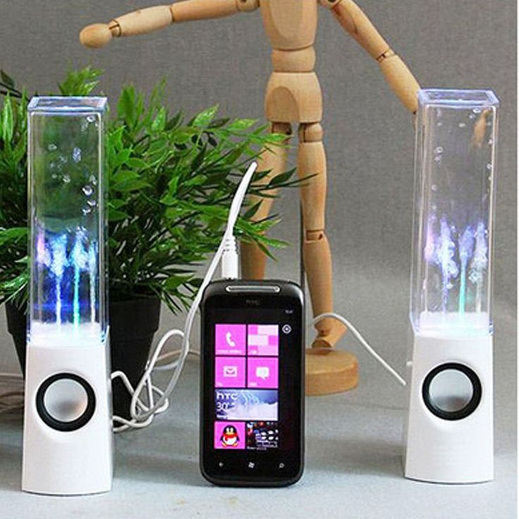 LED Dancing Water Speakers - $34.00