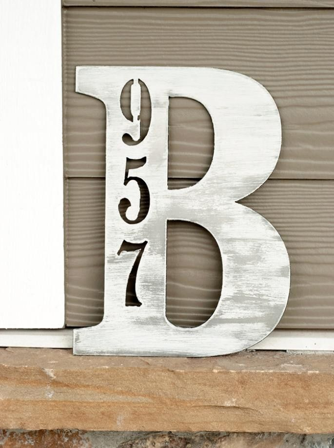 Groupon Letter Address Plaque 3 Sizes Unique House Numbers House Numbers Diy Address Plaque Address numbers and letters