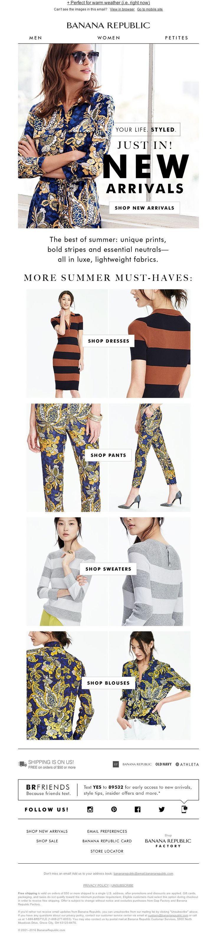 Banana Republic - New arrivals you'll love to wear