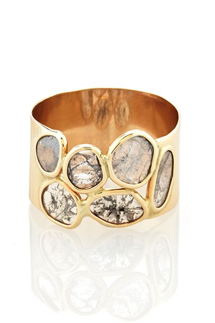 20 Unique Rings For The Offbeat Bride #refinery29  http://www.refinery29.com/unique-engagement-rings#slide15
