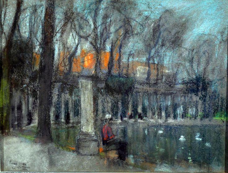 Villani Gennaro (Napoli 1885 - 1948) Parigi pastelli su carta, cm 25x32