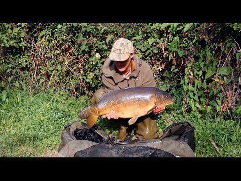 Dave Lane Carp Fishing Video Diary, landing a 24lb carp.