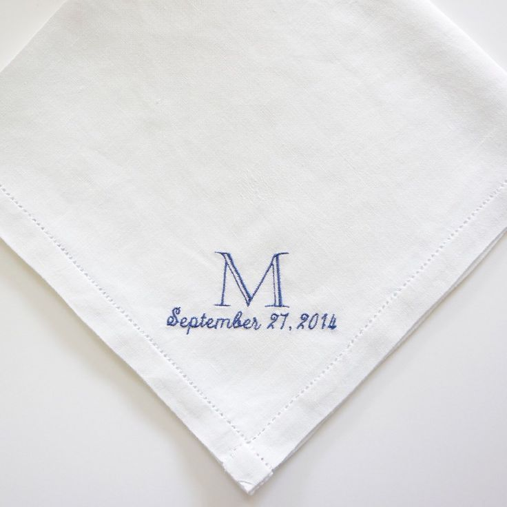 Men S Personalized Handkerchief 100 Fine Irish Linen Wedding Anniversary