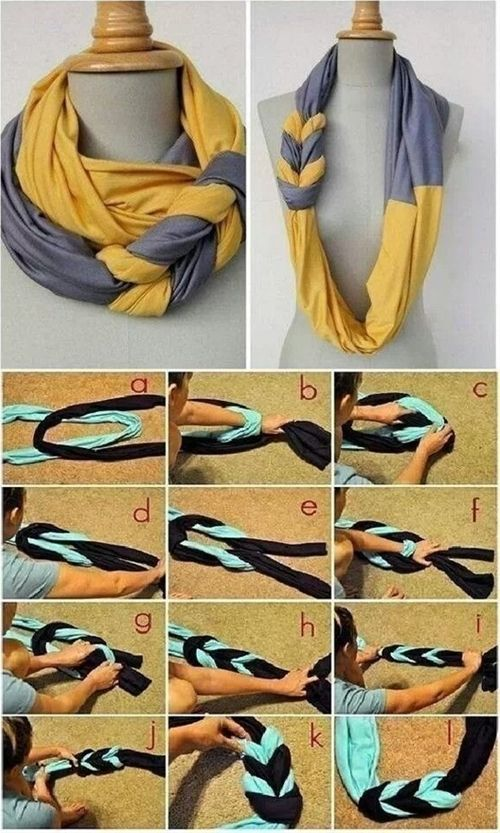 diy scarf, but in purple and green for KDP - Click image to find more fashion posts
