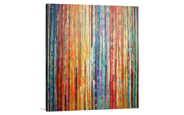 BLOSSOM STRIPE [UA-ART102] - $379.00 | United Artworks | Original art for interior design, buy original paintings online