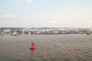 This is the River Niger , the River inside Lagos Nigeria.