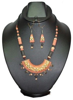 Colourful Terracotta Necklace Set - Buy Online in India for prices starting at Rs. 349 on Shimply.com. ✔ Fast Shipping ✔ 7 Days Return ✔ Genuine Products