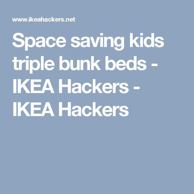 Space saving kids triple bunk beds - IKEA Hackers - IKEA Hackers