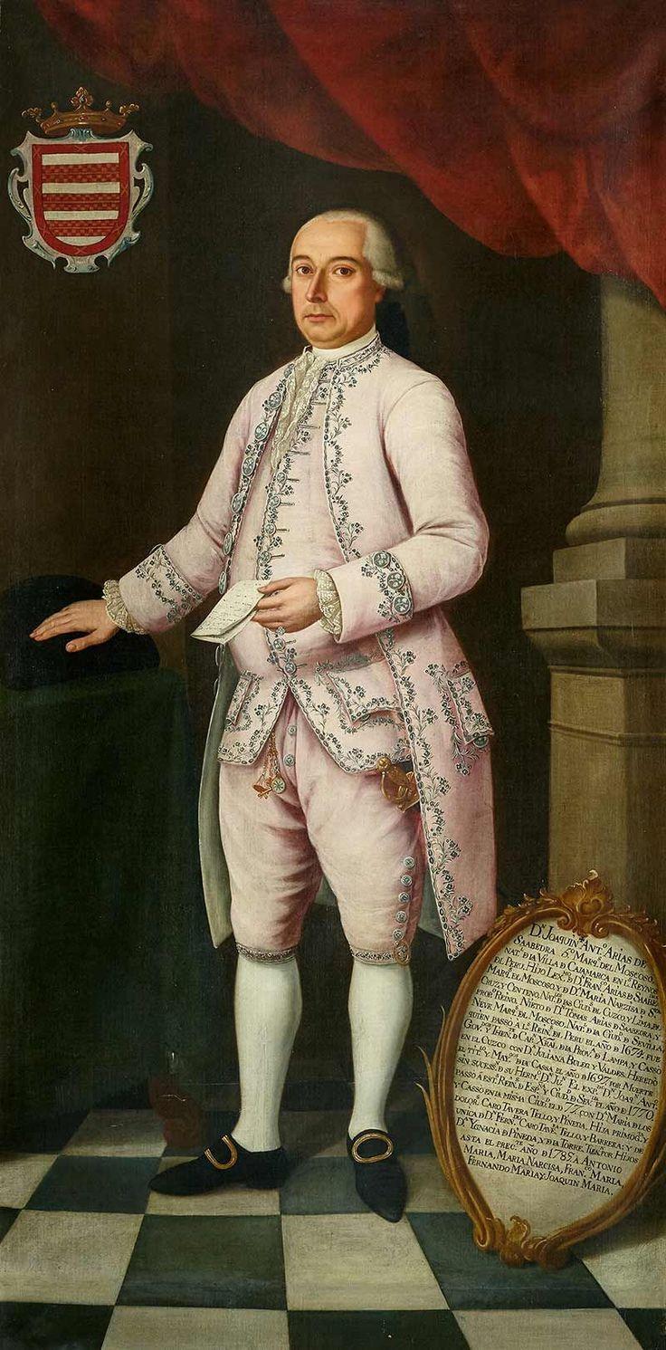 ESCUELA CUZQUEÑA, SIGLO XVIII. Retrato de Joaquín Arias de Saavedra y Santa Cruz, V Marqués de Moscoso, XIII Conde de Castellar.