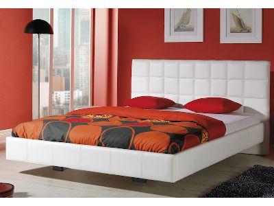 Białe tapicerowane łóżko (PL) / White upholstered bed (EN) by stolwitmeble.pl