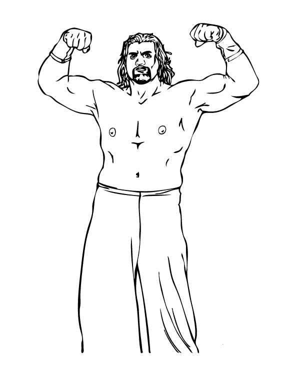 Wrestling Coloring Pages The Great Khali Wwe Coloring Pages Sports Coloring Pages Coloring Pages