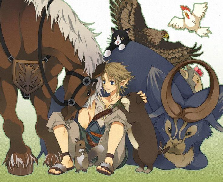 Link et les animaux