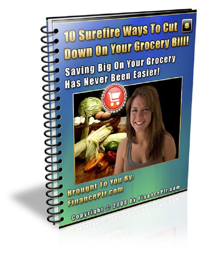 10 Surefire Ways To Cut Down On Your Grocery Bill. Leave comment if you want to buy.