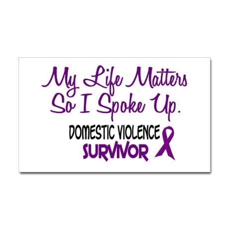 Domestic Violence Survivor 3 Rectangle Sticker