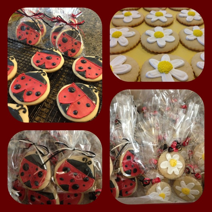 Lady bugs and daisies