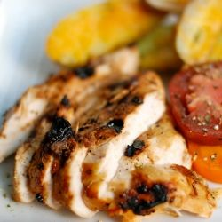 Lime-infused, honey-crusted chicken breast, made with 5 simple ingredients: lime, cayenne pepper. honey, kosher salt, chicken.