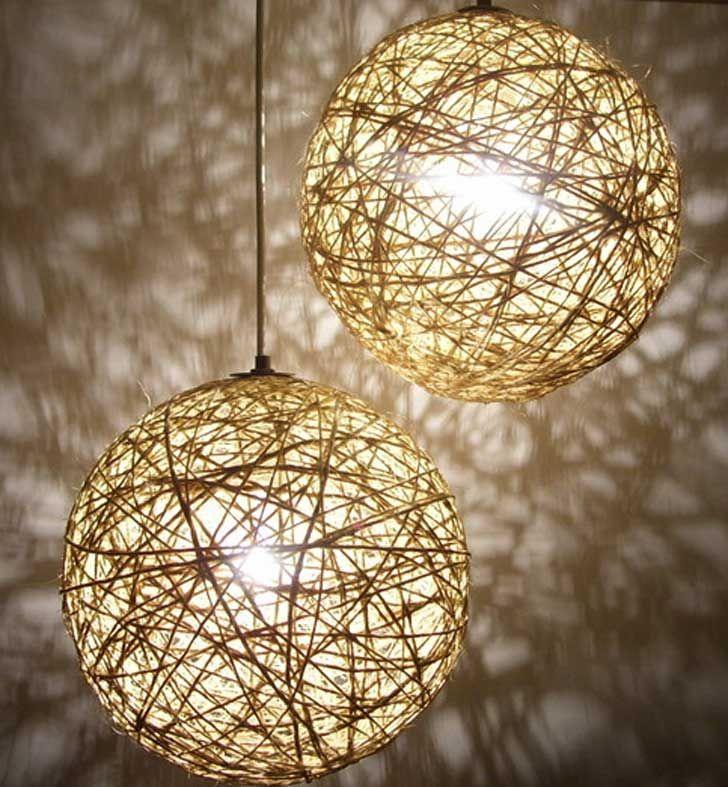 Como hacer lámparas con globos y cuerda paso a paso