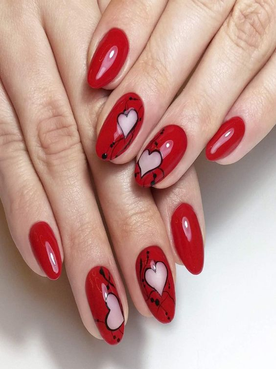Best 25+ Almond Nails Red Ideas On Pinterest