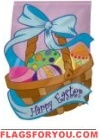 Easter Basket Garden Flag