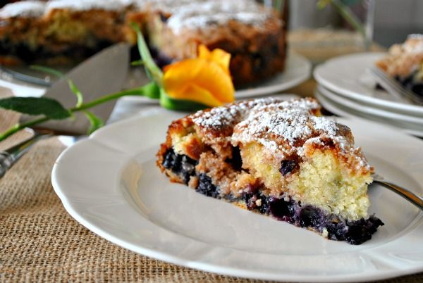 Moist delicious Blueberry Buckle - hubby's favorite will try it soon! via @Suzanne | You MadeThat?
