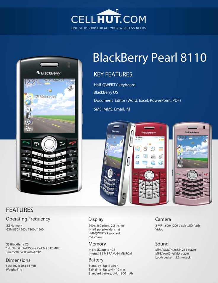 blackberry-pearl-8110-pink-unlocked-quadband-gsm-cell-phone by Cellhut via Slideshare