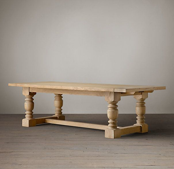 Rh French Beam Coffee Table: 1930s French Farmhouse Extension Dining Table