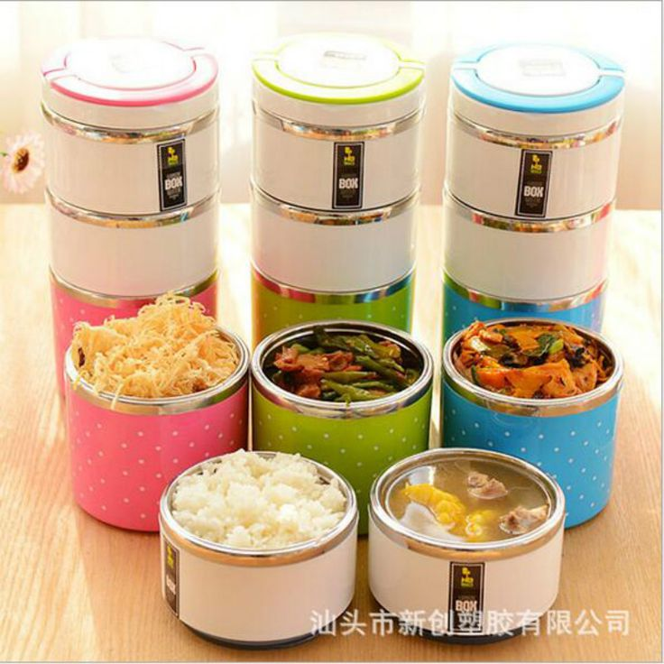 1Pc Multilayers Stainless Steel Lunch Box Insulation Bento Thermo Thermal Lunch Box Food Picnic Container Health Bento Box Hot #Affiliate