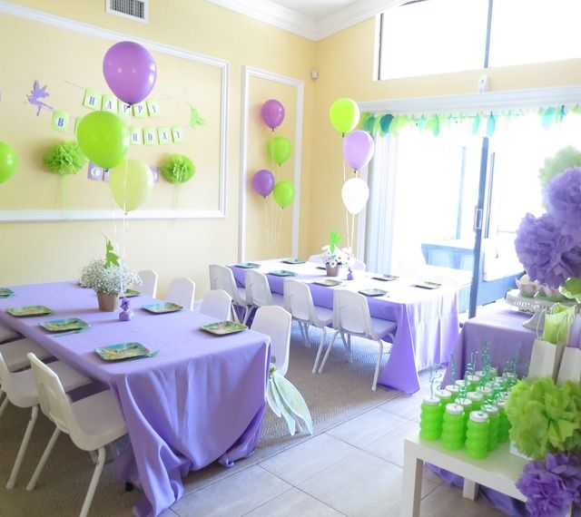 Tinkerbell Fairy Birthday Party Ideas | Photo 1 of 33 | Catch My Party