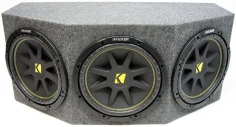 """ASC Package Triple 12"""" Kicker Sub Box Sealed Rearfire Subwoofer Enclosure C12 Comp 900 Watts Peak American Sound Connection"""