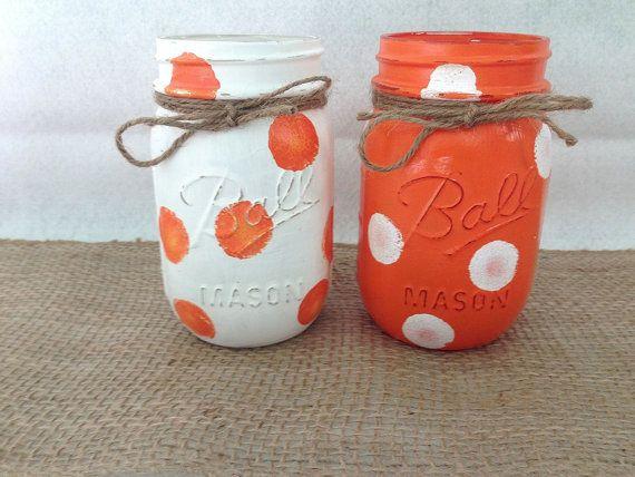 University of Tennessee Painted Mason Jars Set by BlueRidgeBlossom, $15.00