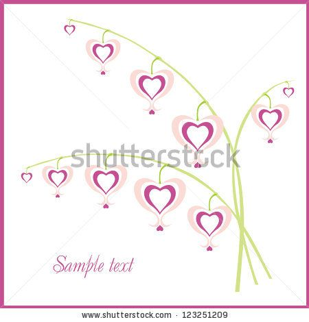 Congratulatory background with delicate pink flowers-hearts
