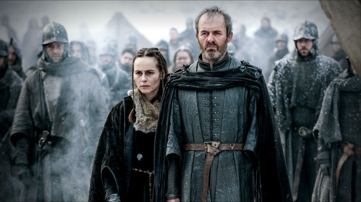 Stannis Baratheon and Selyse Baratheon watching there Daughter Burned Alive for Nothing.